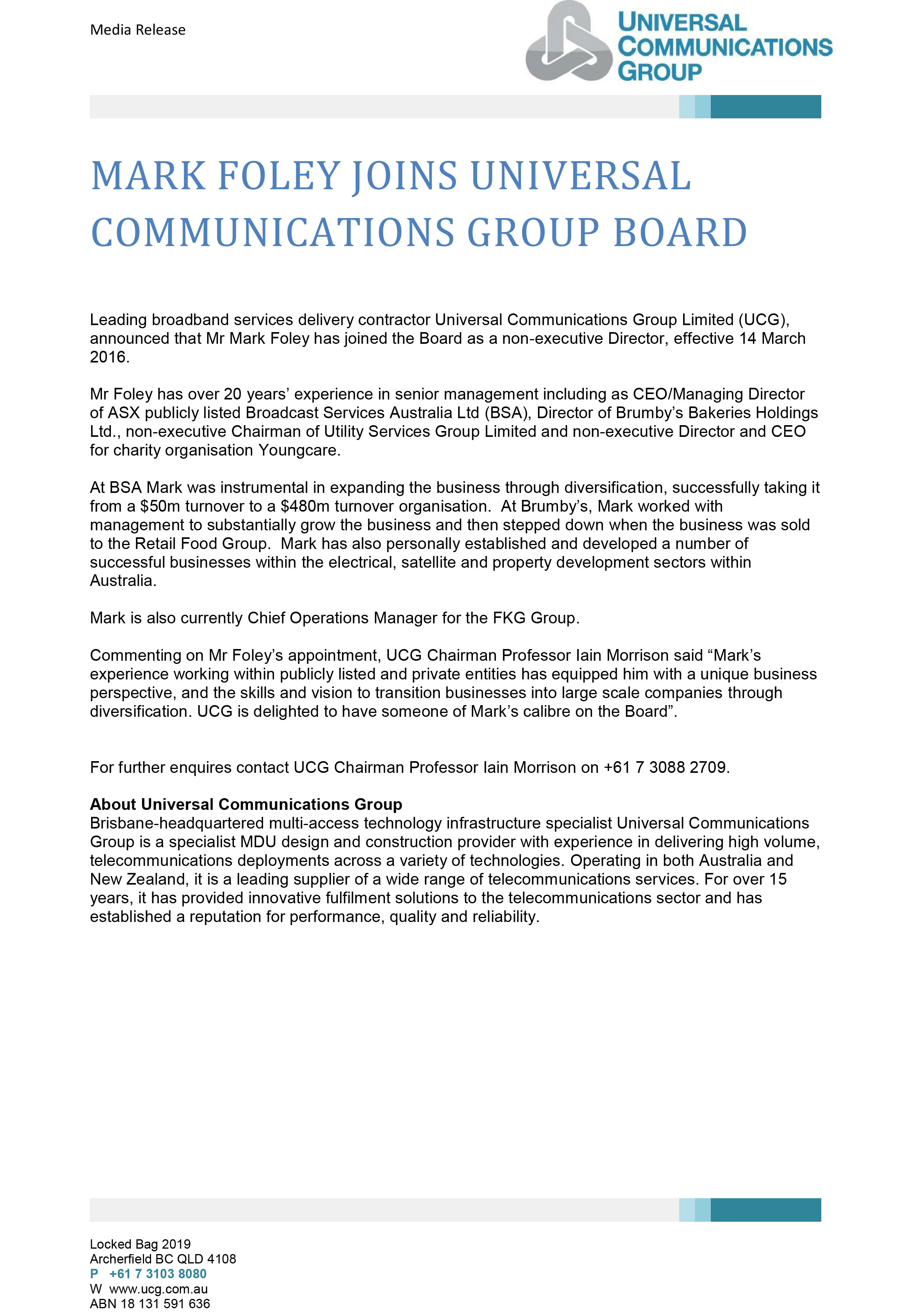 UCG-Media-Release---Mark-Foley